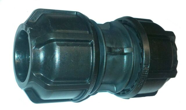 MDPE Plastic Compression Fitting 20mm O//D Polypipe LDPE Water Pipe WRAS Approved