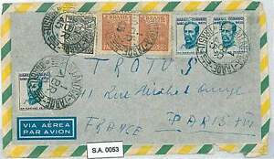 POSTAL HISTORY : BRAZIL - AIRMAIL COVER to FRANCE 1945
