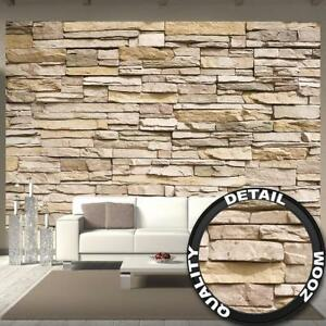 fototapete steinoptik 3d schiefer sandstein braun grau. Black Bedroom Furniture Sets. Home Design Ideas