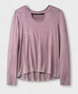 Art-Class-Girls-Long-Sleeve-Choker-Neckline-T-Shirt-Mauve-Extra-Small-4-5-3665