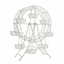 Ferris Wheel Cupcake Holder - White Metal Decorative Wedding Cake Stand Tower