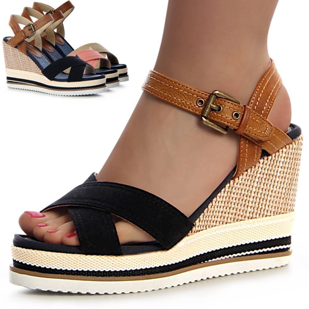 À Femme Sandales Semelles Compensées Chaussures Escarpins j54Lq3AR