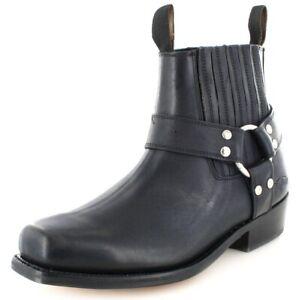 Details zu Buffalo Boots Stiefelette 6000 Black Damen und Herren Bikerstiefelette