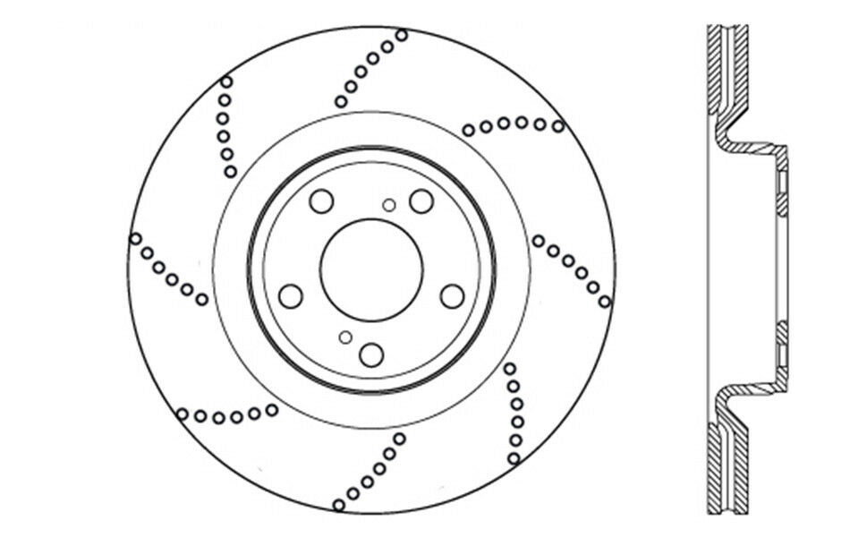 disc brake rotor oe type drilled disc preferred front fits 08 14 Tundra Exhaust stock photo