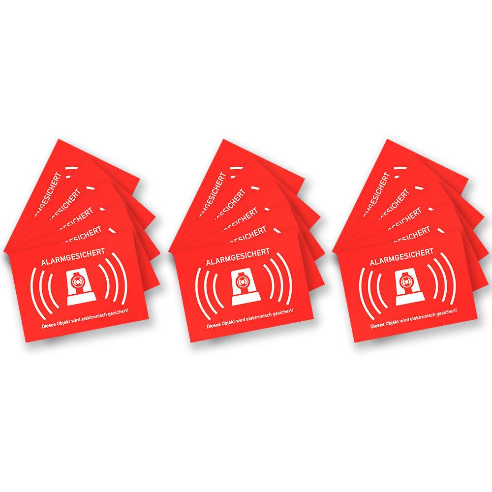 Details Zu 15 Stück Aufkleber Alarmgesichert Alarmanlage Für Innen Und Außen 74x52cm