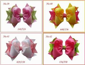 """Corker Hair Bows Clip Custom 50 BLESSING Good Boutique Girl Costume 2.5/"""" B"""