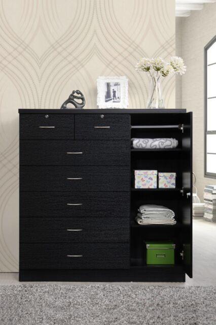 Bedroom Storage Dresser 7 Drawer Furniture Clothes Organizer Cabinet ...