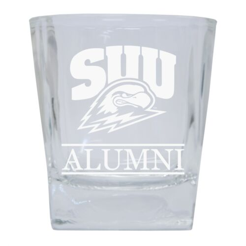 R and R Imports Southern Utah University 8 oz Etched Alumni Glass Tumbler