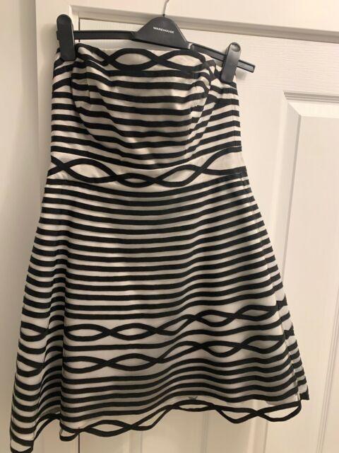Karen Millen Black Strapless Dress Size