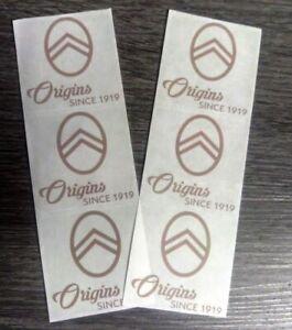 Lot-de-6-Stickers-Autocollants-Origins-Since-1919-CITROEN