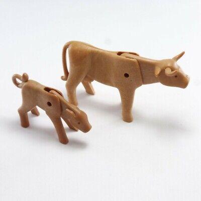 Playmobil Accessoire Décor Animal Lot Veau Marron Botte Foin NEUF Biquette