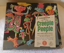 Vintage MATTEL 1965 A THINGMAKER TOY FEATURING CREEPLE PEEPLE w/BOX - WORKS?