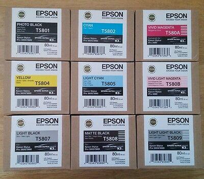 04-2017 NIB T5805 Genuine Epson Pro 3800 3880 Light Cyan Ink T580500