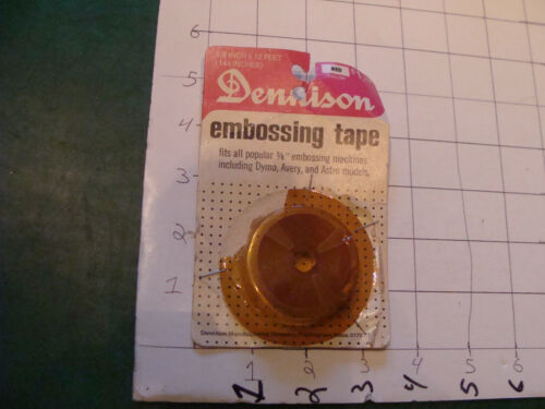 vintage Unused Dennison embossing tape RED 12 FEET for DYMO or ROTEX stapled on