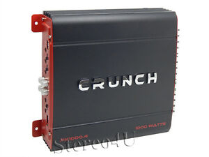 crunch px 1000 4 1000 watt 4 channel class a b car amplifier car rh ebay com Kicker Sub Wiring Diagrams Crutchfield Sub Wiring-Diagram