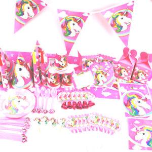 Einhorn thema baby kinder geburtstagsparty vorr te fahnentuch banner party deko ebay - Einhorn party deko ...