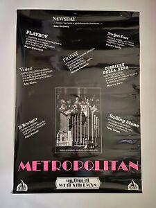 Whit Stillman signed Original METROPOLITAN Italian RARE Poster w/ Doomed button
