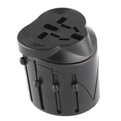 Universal Worldwide Multi AC Travel Plug Charger Adapter AU/UK/US/EU Black