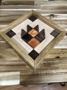 Wood Barn Quilt   Bear Paw / Claw   3d Design and ALL WOOD    Handmade in NC USA
