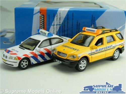 BMW SERIE 3 /& MERCEDES CLASSE M modello auto scala 1:72 POLITIE POLIZIA Cararama K8