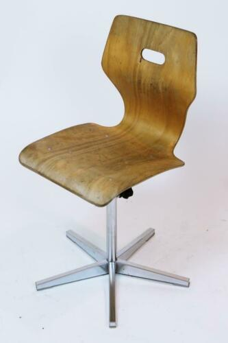 1960 Vintage Swiss Made Height Adjustable Childrens School Chair by Embru