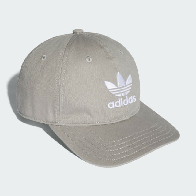 adidas Originals Trefoil Classic Grey White Cap Adjustable Strap Hat BK7282 46725377f7a