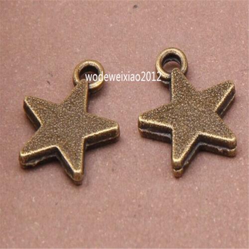 15pc Antique Bronze Bead Charms pentagram Pendant accessories wholesale PL480