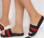 LADIES-WOMENS-FLAT-SLIP-ON-DESIGNER-STRIPED-FLIP-FLOP-SLIDERS-MULES-SANDALS-SIZE thumbnail 4