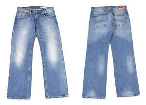 Tommy Hilfiger Woody Comfort Gerades Bein Blau Denim Herren Jeans W34 L34