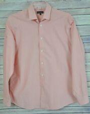 BEN SHERMAN Flip Contrast Cuff Button Front Gingham Shirt Sz L 16/34-35