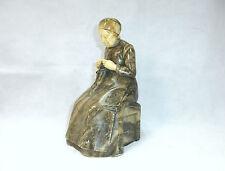Seltene alte Marmor Figur um 1900 signiert Schweiz / Frankreich