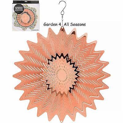 """12/""""//30cm CHAKRA MULTI Stainless Steel Wind Spinner Sun Catcher Hook Garden Gift"""