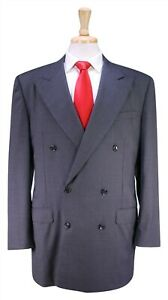 Hickey-Freeman-Recent-Moderne-Madison-Gris-Raye-2-Btn-Double-Boutonnage-Suit-44L