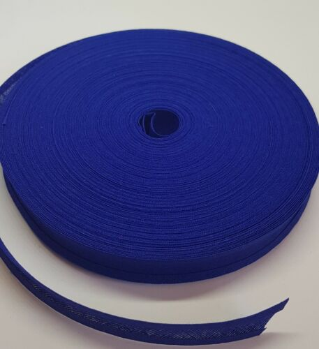 QUALITY COTTON BIAS BINDING 16mm wide 10m 3m 5m Royal Blue Folded
