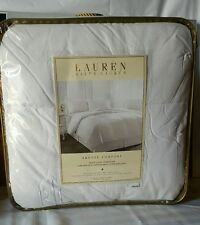 Ralph Lauren Bronze Comfort White Down Comforter  Ultra-Brush Cotton Full/Queen