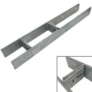 H-Anker-verstellbar-fuer-Pfosten-Carport-91-101-111-121-131-141-Pfostenschuh-5mm