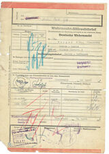 FRACHTBRIEF 1944 WEHRMACHTS EILFRACHTBRIEF 1944 (AGK951)