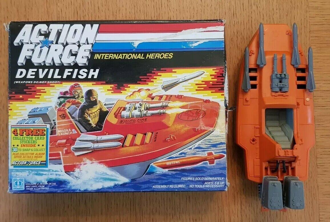 1986 GI JOE UK AZIONE FORCE Devilfish in scatola completo