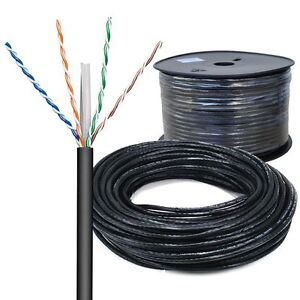 20m cat 6 netzwerk kabel verlegekabel lan gigabit 4x2xawg23 1 u utp uv outdoor ebay. Black Bedroom Furniture Sets. Home Design Ideas