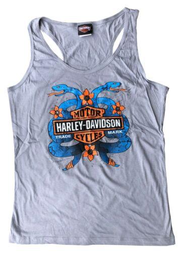 NUOVO Da Donna Ex Harley Davidson 100/% COTONE BIONDA CANOTTA ESTIVA CANOTTA S-XL