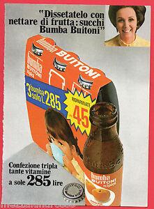 Pubblicita-Advertising-BUITONI-1970-Succhi-Bumba-Nipiol