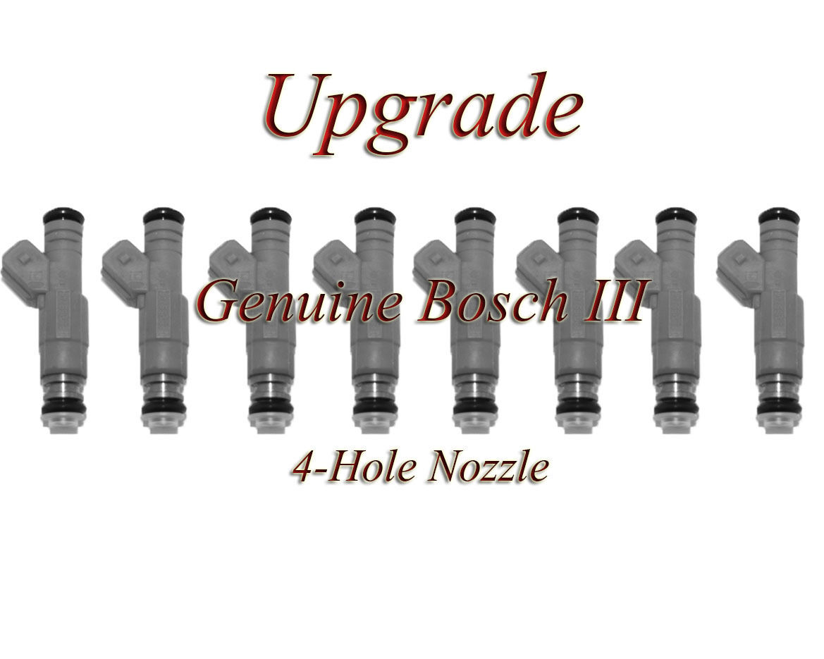 BOSCH III UPGRADE FUEL INJECTOR SET 4-HOLE NOZZLE 8 91-04 FORD 4.6 5.4