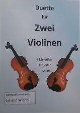 Noten Violine (Duette) von Johann Wiendl