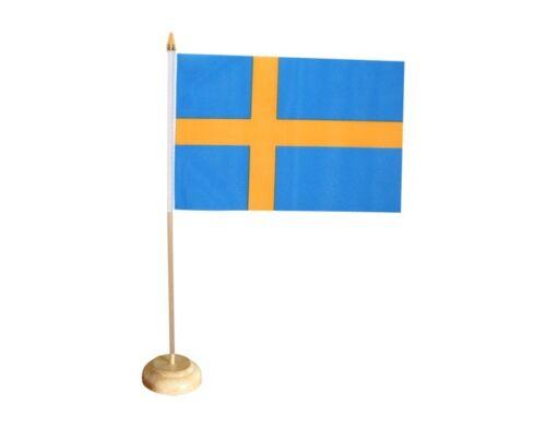Tischflagge Schweden schwedische Tischfahne 15x22cm