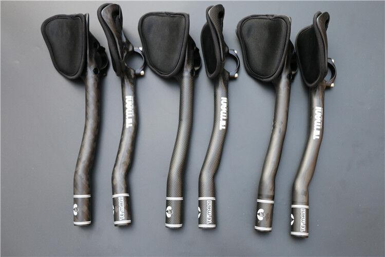 12K 3K UD Carbon Fiber Bike Racing Handlebar Cycle Bicycle Arm Rest Aero TT Bar