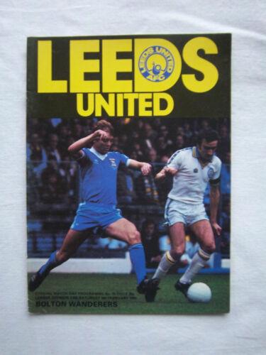 Orig.PRG   England  1.Division  1979/80   LEEDS UNITED AFC - BOLTON WANDERERS FC