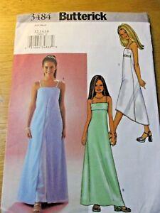 7934c6b41 BUTTERICK SEWING PATTERN NO. 3484 GIRLS PARTY DRESS SIZES 12
