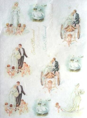 Decopatch Wedding Decoupage Sheets Scrapbooking Rice Decoupage Paper