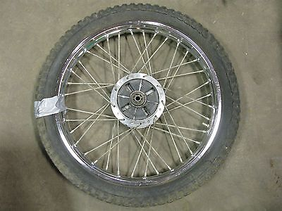 1978 kawasaki g5 100 enduro k430~ rear wheel rim w dampers 18""