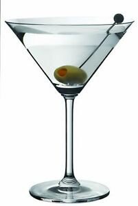 Martini-Glasses-Dailyware-Four-12-Ounce-Clear-Glass-Barware-Made-in-USA
